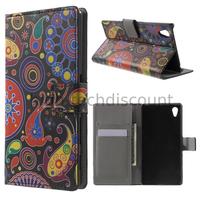 Housse etui coque pochette portefeuille PU cuir pour Sony Xperia Z5 + film ecran - PAISLEY