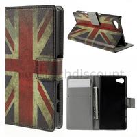 Housse etui coque pochette portefeuille PU cuir pour Sony Xperia Z5 Compact + film ecran - UK