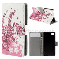 Housse etui coque pochette portefeuille PU cuir pour Sony Xperia Z5 Compact + film ecran - CERISIER