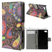 Housse etui coque pochette portefeuille PU cuir pour Sony Xperia Z5 Compact + film ecran - PAISLEY