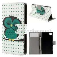 Housse etui coque pochette portefeuille PU cuir pour Sony Xperia Z5 Compact + film ecran - HIBOU