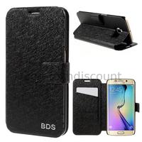 Housse etui coque portefeuille pour Samsung G928F Galaxy S6 Edge Plus + film ecran - NOIR