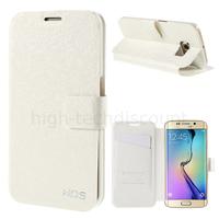 Housse etui coque portefeuille pour Samsung G928F Galaxy S6 Edge Plus + film ecran - BLANC