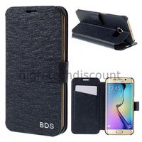 Housse etui coque portefeuille pour Samsung G928F Galaxy S6 Edge Plus + film ecran - BLEU