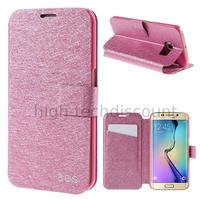 Housse etui coque portefeuille pour Samsung G928F Galaxy S6 Edge Plus + film ecran - ROSE FONCE