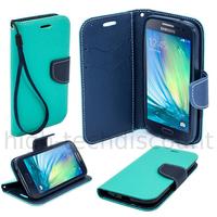 Housse etui coque pochette portefeuille pour Samsung Galaxy A5 + film ecran - BLEU / BLEU