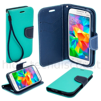 Housse etui coque pochette portefeuille pour Samsung G531H Galaxy Grand Prime VE + film ecran - BLEU / BLEU