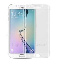Film de protection vitre verre trempé incurvé intégral pour Samsung G925F Galaxy S6 Edge Plus - BLANC