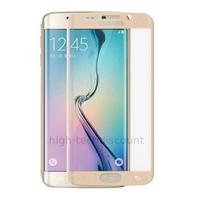 Film de protection vitre verre trempé incurvé intégral pour Samsung G925F Galaxy S6 Edge Plus - OR