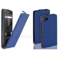 Housse etui coque pochette PU cuir fine pour Sony Xperia Z5 Compact + film ecran - BLEU