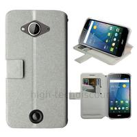 Housse etui coque pochette portefeuille pour Acer Liquid Z530 + film ecran - BLANC
