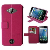 Housse etui coque pochette portefeuille pour Acer Liquid Z530 + film ecran - ROSE