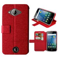 Housse etui coque pochette portefeuille pour Acer Liquid Z530 + film ecran - ROUGE