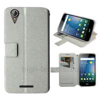 Housse etui coque pochette portefeuille pour Acer Liquid Z630 + film ecran - BLANC