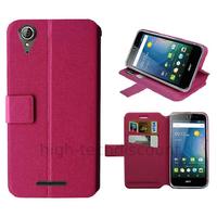 Housse etui coque pochette portefeuille pour Acer Liquid Z630 + film ecran - ROSE