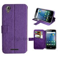 Housse etui coque pochette portefeuille pour Acer Liquid Z630 + film ecran - MAUVE