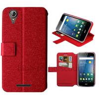 Housse etui coque pochette portefeuille pour Acer Liquid Z630 + film ecran - ROUGE