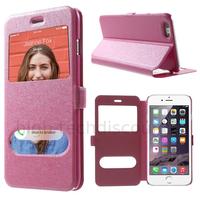 Housse etui coque portefeuille view case pour Apple iPhone 6 Plus (5.5) + film ecran - ROSE