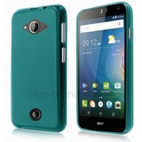 Housse etui coque pochette silicone gel fine pour Acer Liquid Z530 + film ecran - BLEU