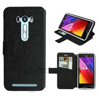 Housse etui coque pochette portefeuille pour Asus Zenfone Selfie ZD551KL + film ecran - NOIR