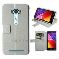 Housse etui coque pochette portefeuille pour Asus Zenfone Selfie ZD551KL + film ecran - BLANC