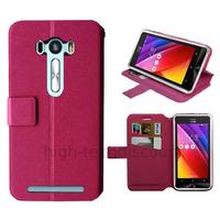 Housse etui coque pochette portefeuille pour Asus Zenfone Selfie ZD551KL + film ecran - ROSE