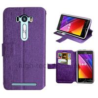Housse etui coque pochette portefeuille pour Asus Zenfone Selfie ZD551KL + film ecran - MAUVE