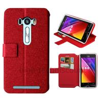 Housse etui coque pochette portefeuille pour Asus Zenfone Selfie ZD551KL + film ecran - ROUGE