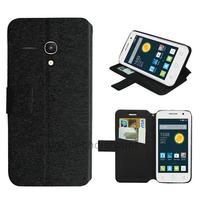 Housse etui coque pochette portefeuille pour Alcatel One Touch Pop 2 (4.0) 4045D - NOIR