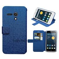Housse etui coque pochette portefeuille pour Alcatel One Touch Pop 2 (4.0) 4045D - BLEU