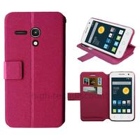Housse etui coque pochette portefeuille pour Alcatel One Touch Pop 2 (4.0) 4045D - ROSE