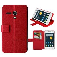 Housse etui coque pochette portefeuille pour Alcatel One Touch Pop 2 (4.0) 4045D - ROUGE