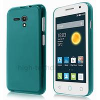 Housse etui coque silicone gel fine pour Alcatel One Touch Pop 2 (4.0) 4045D - BLEU