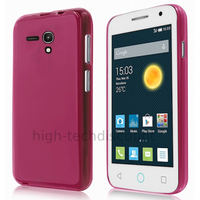 Housse etui coque silicone gel fine pour Alcatel One Touch Pop 2 (4.0) 4045D - ROSE