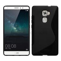 Housse etui coque pochette silicone gel fine pour Huawei Ascend Mate S + film ecran - NOIR