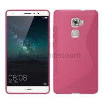 Housse etui coque pochette silicone gel fine pour Huawei Ascend Mate S + film ecran - ROSE