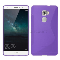 Housse etui coque pochette silicone gel fine pour Huawei Ascend Mate S + film ecran - MAUVE