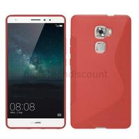 Housse etui coque pochette silicone gel fine pour Huawei Ascend Mate S + film ecran - ROUGE