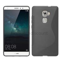 Housse etui coque pochette silicone gel fine pour Huawei Ascend Mate S + film ecran - TRANSPARENT