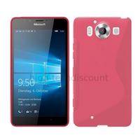 Housse etui coque pochette silicone gel fine pour Microsoft Lumia 950 + film ecran - ROSE
