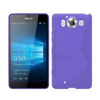 Housse etui coque pochette silicone gel fine pour Microsoft Lumia 950 + film ecran - MAUVE