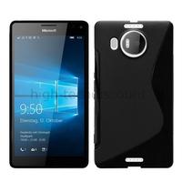 Housse etui coque pochette silicone gel fine pour Microsoft Lumia 950 XL + film ecran - NOIR