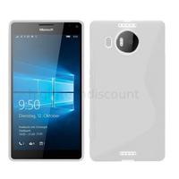 Housse etui coque pochette silicone gel fine pour Microsoft Lumia 950 XL + film ecran - BLANC