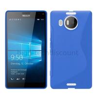Housse etui coque pochette silicone gel fine pour Microsoft Lumia 950 XL + film ecran - BLEU