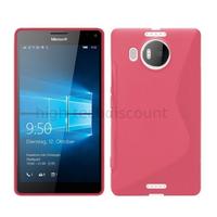 Housse etui coque pochette silicone gel fine pour Microsoft Lumia 950 XL + film ecran - ROSE