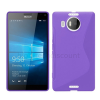 Housse etui coque pochette silicone gel fine pour Microsoft Lumia 950 XL + film ecran - MAUVE