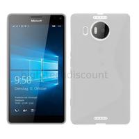 Housse etui coque pochette silicone gel fine pour Microsoft Lumia 950 XL + film ecran - TRANSPARENT