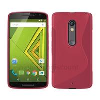 Housse etui coque pochette silicone gel fine pour Motorola Moto X Play + film ecran - ROSE