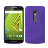 Housse etui coque pochette silicone gel fine pour Motorola Moto X Play + film ecran - MAUVE