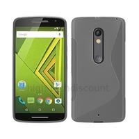 Housse etui coque pochette silicone gel fine pour Motorola Moto X Play + film ecran - TRANSPARENT
